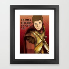 Rory Williams - I'd Spend Centuries By Your Side Framed Art Print