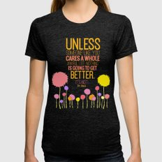 Unless Someone Like You.… Womens Fitted Tee Tri-Black SMALL