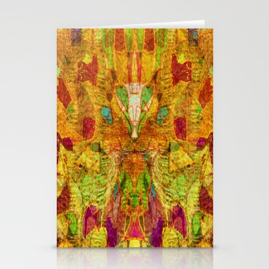 Hiding Face Stationery Card