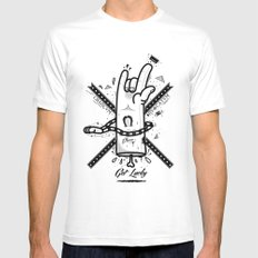 Get lucky Mens Fitted Tee White SMALL