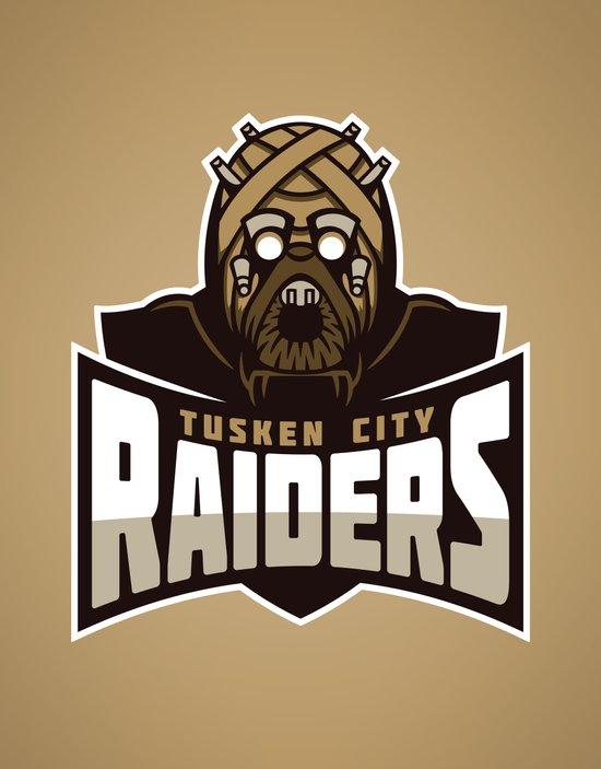 Tusken City Raiders - Tan Art Print
