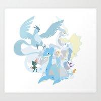 Team Elsa Art Print