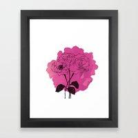 Spray Roses Framed Art Print