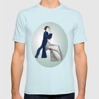 Fashion Illustration - P… Mens Fitted Tee Light Blue SMALL