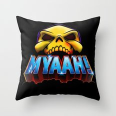 MYAAH! Throw Pillow