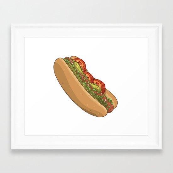 Chicago Dog Framed Art Print