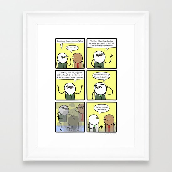 Antics #270 - exit strategy Framed Art Print