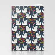 Swans By Andrea Lauren  Stationery Cards