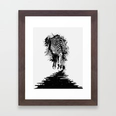 Stripe Charging Framed Art Print