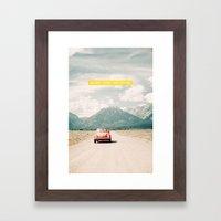 NEVER STOP EXPLORING V -… Framed Art Print