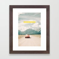NEVER STOP EXPLORING V -… Framed Art Print