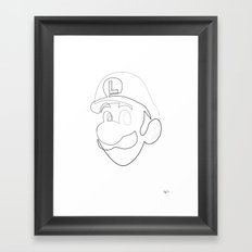 One line Luigi Framed Art Print