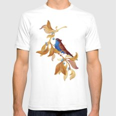 song bird Mens Fitted Tee White SMALL