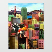 San Francisco City Chicken Canvas Print