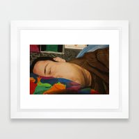 Morning Portrait (Self Portrait) Framed Art Print