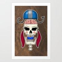 Skater Skull By RonkyTon… Art Print