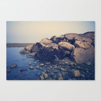 On The Rocks Canvas Print