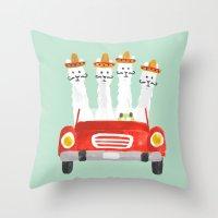 The four amigos Throw Pillow