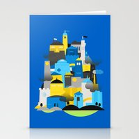 Magic Town - Blue Stationery Cards