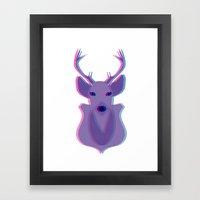 Deer Head Framed Art Print