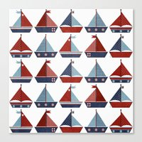 My Little Sail Boat. Canvas Print