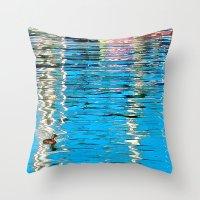 Harbor Watercolors Throw Pillow