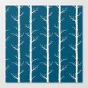 InfinityTrees in Petrol Blue Canvas Print