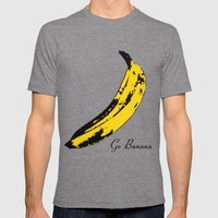 Go Banana  Mens Fitted Tee Tri-Grey SMALL