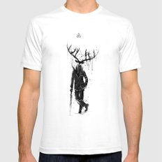 A Fine Lunch Sketch Mens Fitted Tee SMALL White