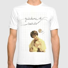 liz White SMALL Mens Fitted Tee