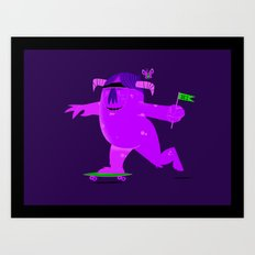 Barry Skate monster Art Print