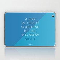 A Day Without Sunshine. Laptop & iPad Skin