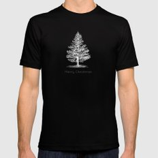 Simple Christmas Tree Mens Fitted Tee Black SMALL