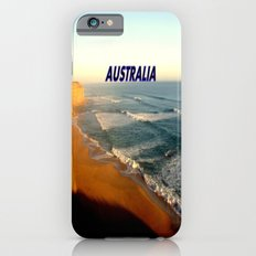 Sunset glowing on the limestone Cliffs iPhone 6 Slim Case