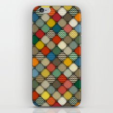 buttoned patches retro iPhone & iPod Skin