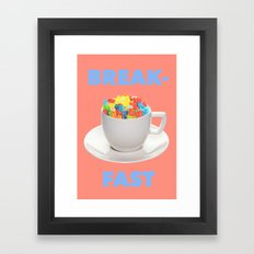 Breakfast Candy Framed Art Print