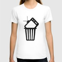 Goodbye TV Womens Fitted Tee White SMALL