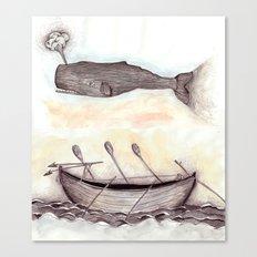Whale Ship Canvas Print