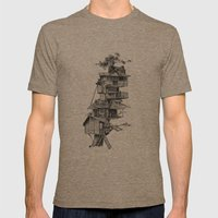 Treehouse Mens Fitted Tee Tri-Coffee SMALL