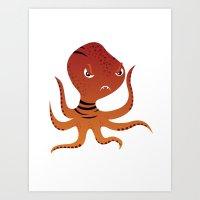 Tiger Squid Art Print