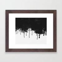 Spilled Ink Framed Art Print