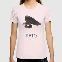 KATO Womens Fitted Tee Light Pink SMALL