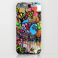 iPhone & iPod Case featuring A Monster City Hello by Artbox