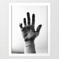 Working Hands (I Dye) Art Print