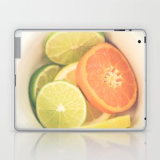 Citrus on White Laptop & iPad Skin