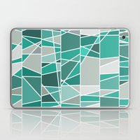 Turquoise and grey Laptop & iPad Skin