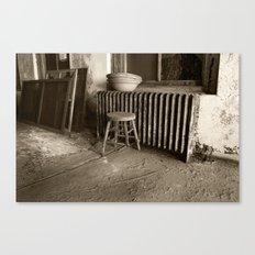 Broken stool on Ellis Island Canvas Print
