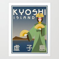 Kyoshi Island Travel Pos… Art Print