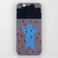 RETRO RAIN DANCE iPhone & iPod Skin