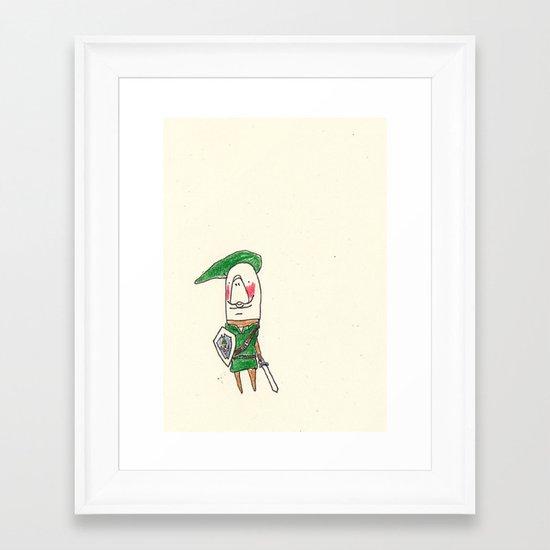 Manatee as Link Framed Art Print